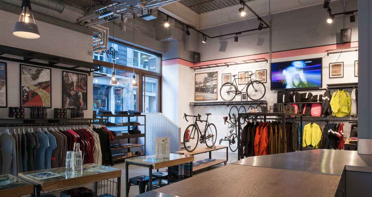 Rapha Cycling Club Cafe in London