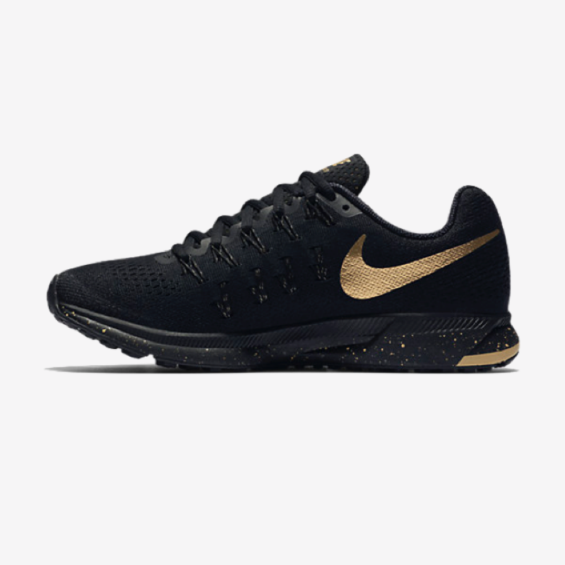 Nike Air Zoom Pegasus 33 Women's Running Shoe 'Black and Gold