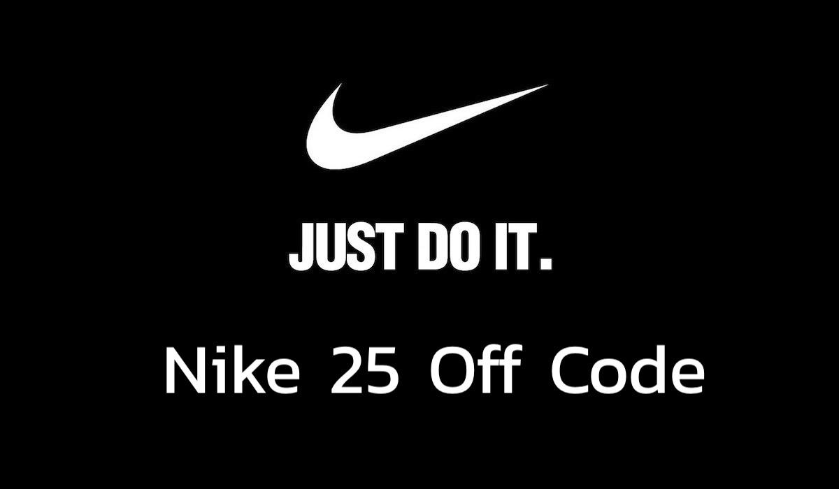 Nike 25 Off Code Banner