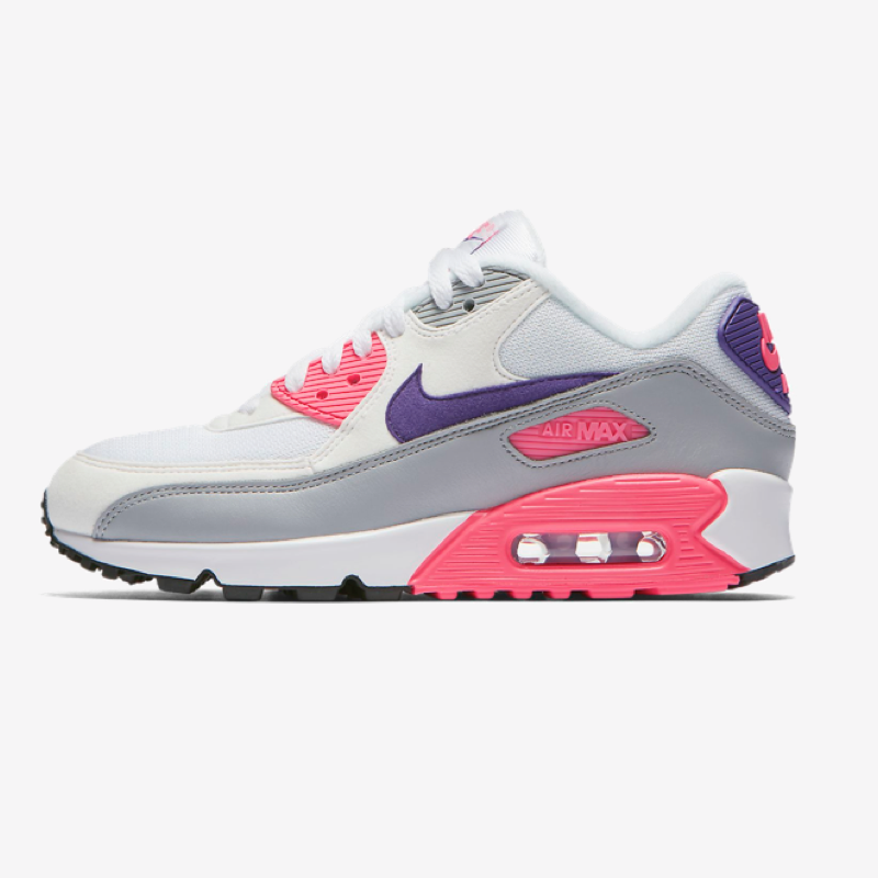 Nike Air Max 90 - White, Purple, Wolf Grey and Laser Pink - shoes
