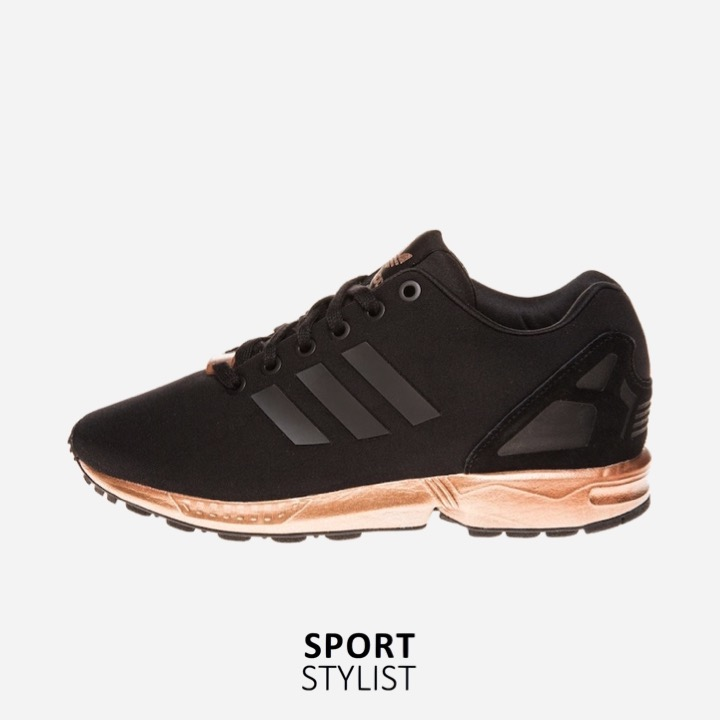 49fe2650b586 adidas ZX Flux Trainers – Black and Copper (Gold) - Rematch