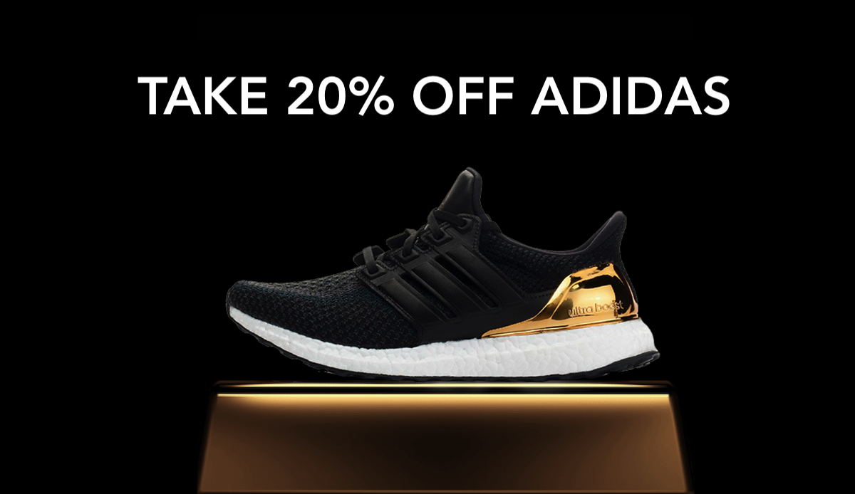 Take 20 off adidas banner boost shoe